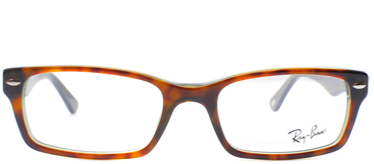 Ray-Ban RX 5206 2445 Rectangle Plastic Brown Eyeglasses with Demo Lens