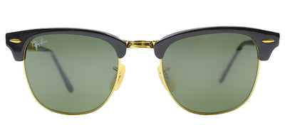 Ray-Ban RB 2176 901 Clubmaster Plastic Black Sunglasses with Green Lens