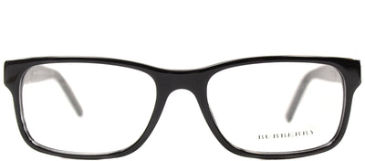 Burberry BE 2150 3001 Rectangle Plastic Black Eyeglasses with Demo Lens