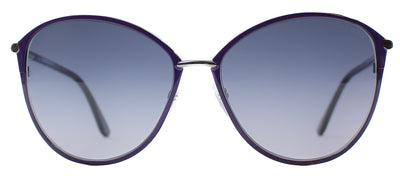 Tom Ford TF 320 14B Cat-Eye Metal Purple Sunglasses with Grey Gradient Lens