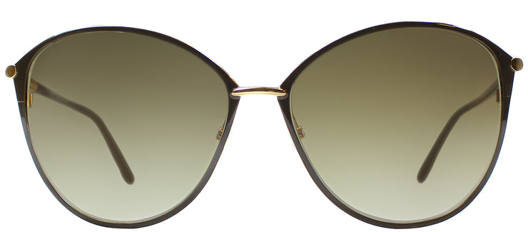 Tom Ford TF 320 28F Cat-Eye Metal Gold Sunglasses with Brown Gradient Lens