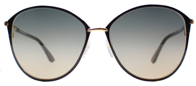 Tom Ford TF 320 28B Cat-Eye Metal Black Sunglasses with Grey Gradient Lens