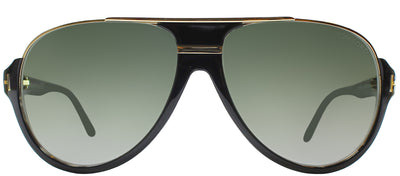 Tom Ford TF 334 01P Aviator Plastic Black Sunglasses with Green Gradient Lens