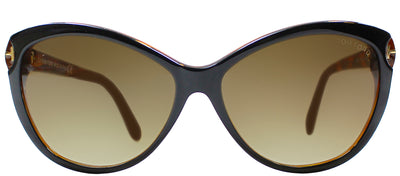 Tom Ford TF 325 03F Cat-Eye Plastic Brown Sunglasses with Brown Gradient Lens