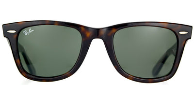 Ray-Ban RB 2140 902 Original Wayfarer Plastic Brown Sunglasses with Green Lens