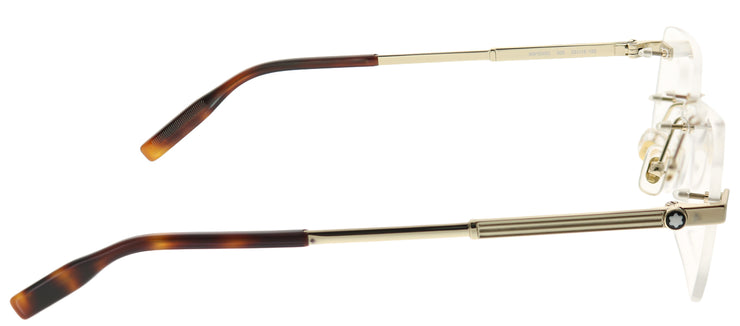 Montblanc MB 0030O 005 Rimless Metal Gold Eyeglasses with Demo Lens