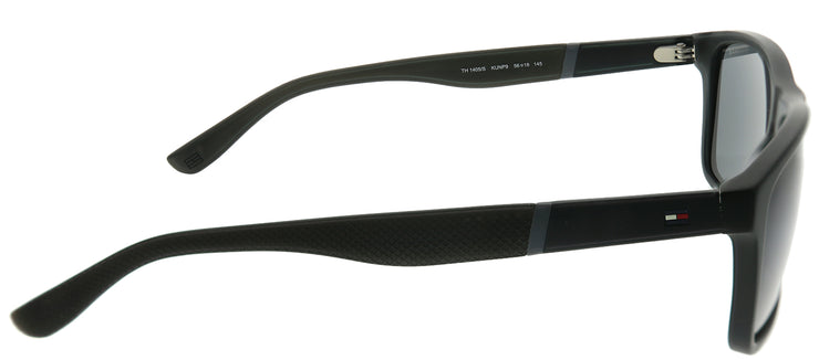 Tommy Hilfiger TH 1405/S KUN P9 Rectangle Plastic Black Sunglasses with Grey Lens