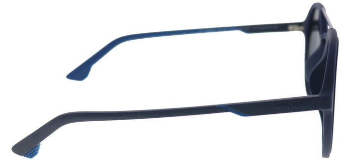 Police SPL 768 92EP Round Plastic Blue Sunglasses with Blue Lens