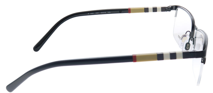 Burberry BE 1282 1001 Semi-Rimless Metal Burgundy/ Red Eyeglasses with Demo Lens