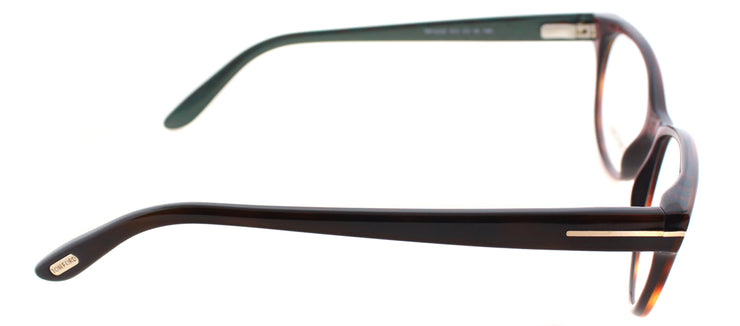 Tom Ford FT 5292 052 Round Plastic Brown Eyeglasses with Demo Lens