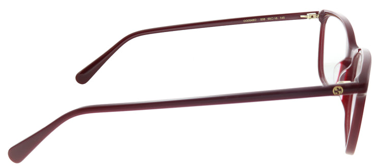 Gucci GG 0548O 008 Rectangle Plastic Burgundy/ Red Eyeglasses with Demo Lens