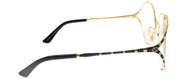 Gucci GG 0596OA 001 Round Metal Gold Eyeglasses with Demo Lens