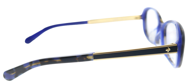 Kate Spade KS Amaris/F S5A Oval Plastic Blue Eyeglasses with Demo Lens