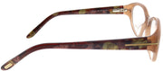 Tom Ford FT 4244 047 Oval Plastic Brown Eyeglasses with Demo Lens