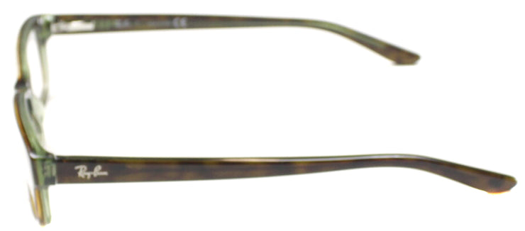 Ray-Ban RX 5187 2445 Rectangle Plastic Green Eyeglasses with Demo Lens