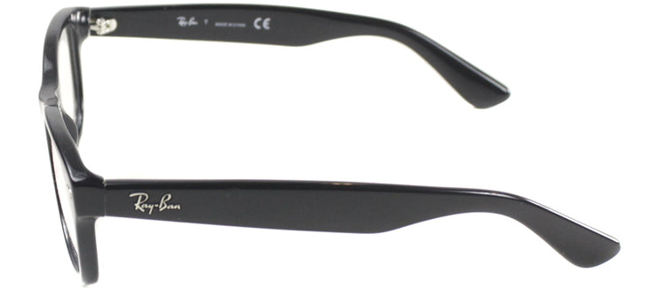 Ray-Ban Junior Jr RY 1528 3542 Square Plastic Black Eyeglasses with Demo Lens