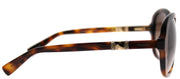 MaxMara MM Jewel BHZ JD Square Plastic Tortoise/ Havana Sunglasses with Brown Gradient Lens