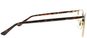 Gucci GG 0294O 003 Rectangle Metal Brown Eyeglasses with Demo Lens