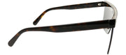 Stella McCartney SC 0148S 003 Shield Plastic Tortoise/ Havana Sunglasses with Blue Mirror Lens