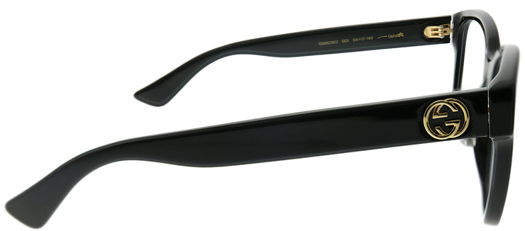 Gucci GG 0038O 001 Square Plastic Black Eyeglasses with Demo Lens