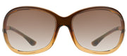 Tom Ford Jennifer TF 8 50F Fashion Plastic Brown Sunglasses with Grey Gradent Gradient Lens