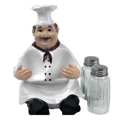 salt and pepper shakers, shaker set, kitchen shakers, chef buddy, gifts for the cook, unique gifts for the baker