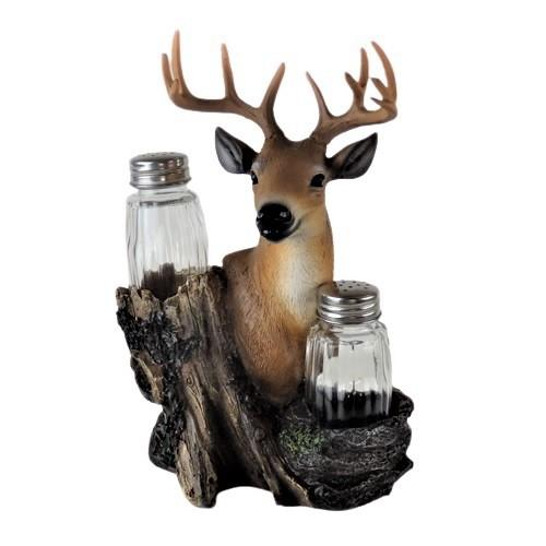 Deer Head, Slat and pepper shakers, country living, shaker set, gifts for him, hunting gifts, outdoors, unique