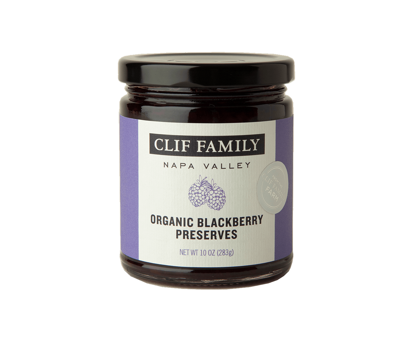 Organic Blackberry Preserves packaging