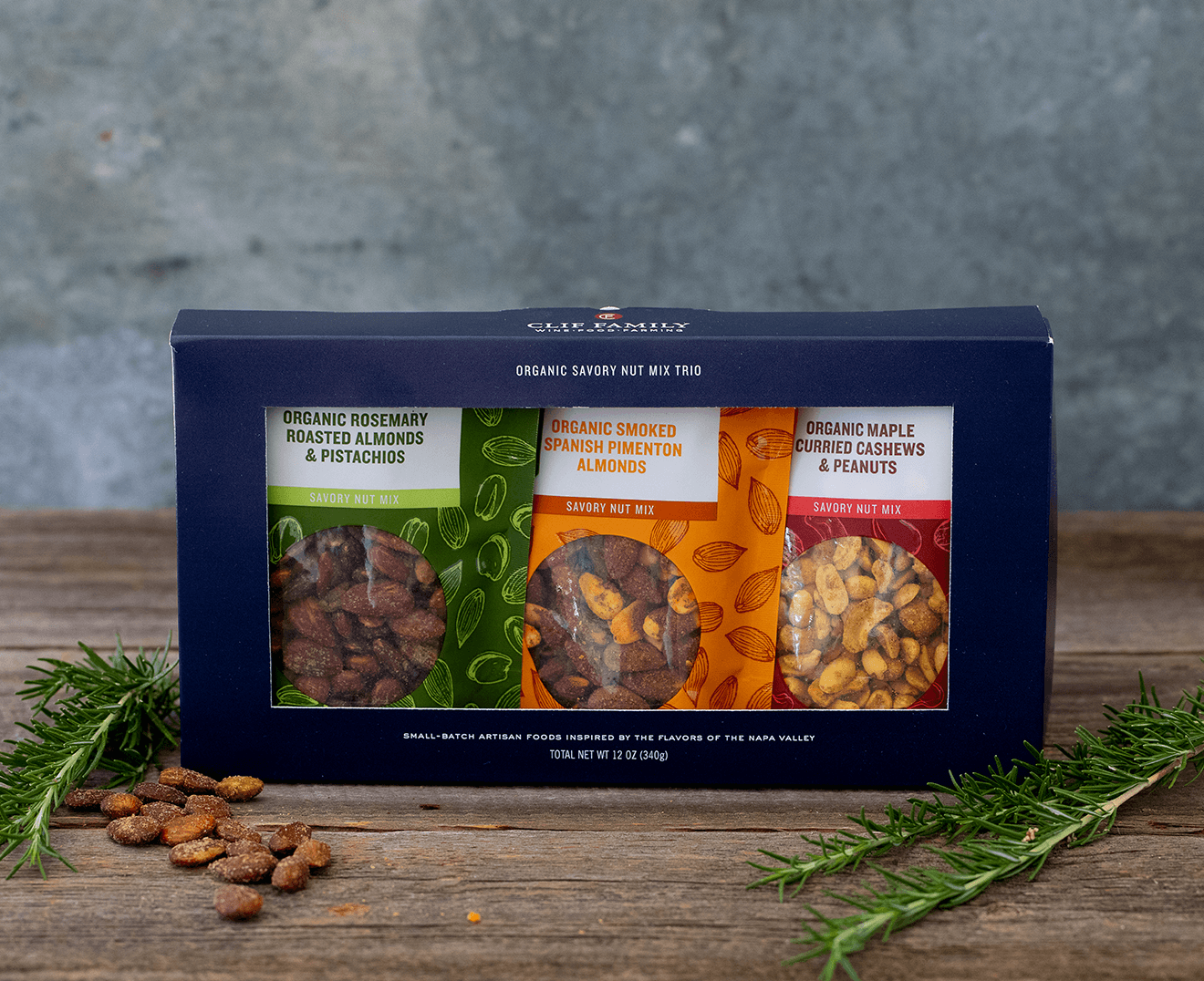 Clif Family Organic Savory Nut Mix Trio packaging