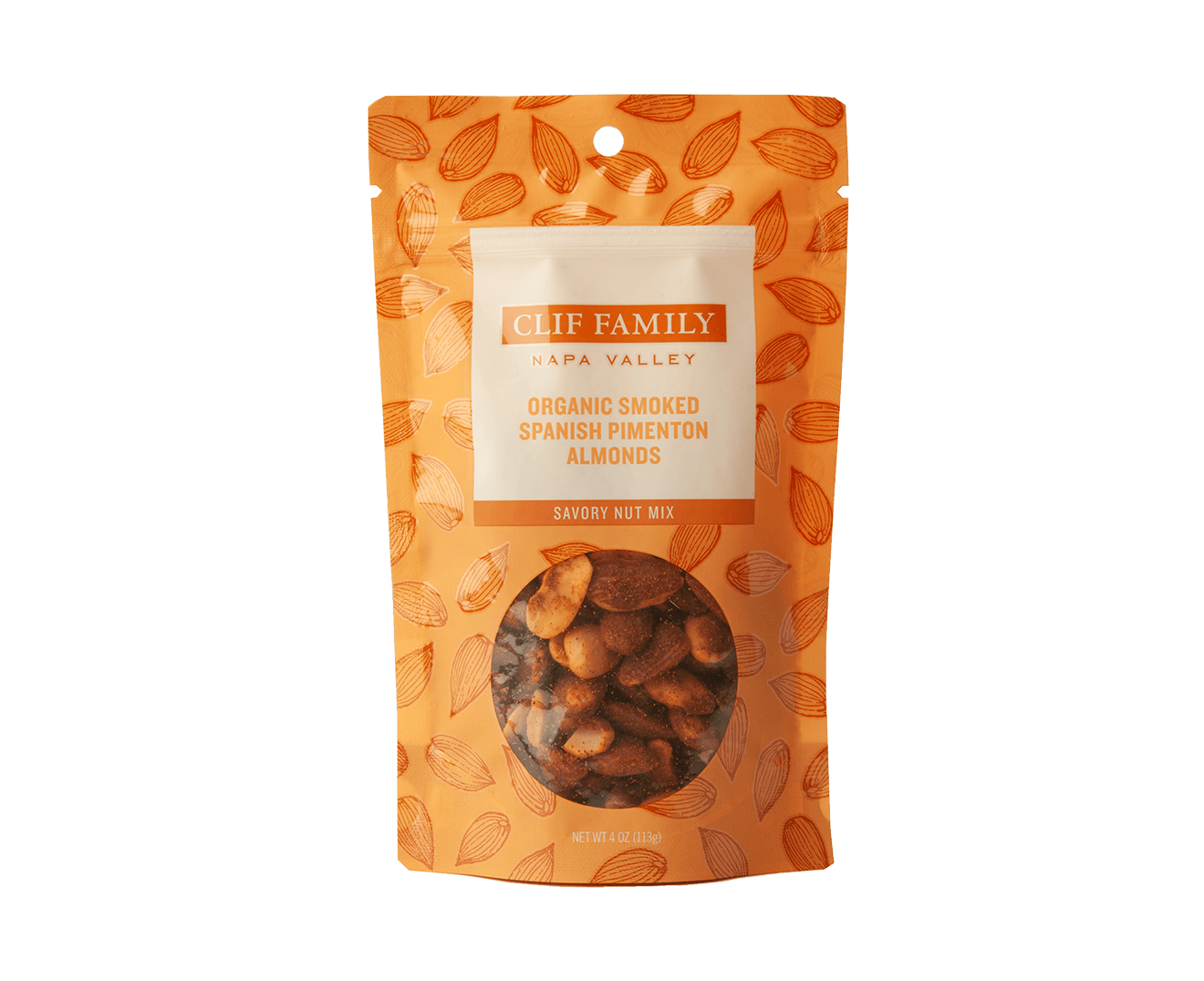 Organic Smoked Spanish Pimenton Almonds packaging