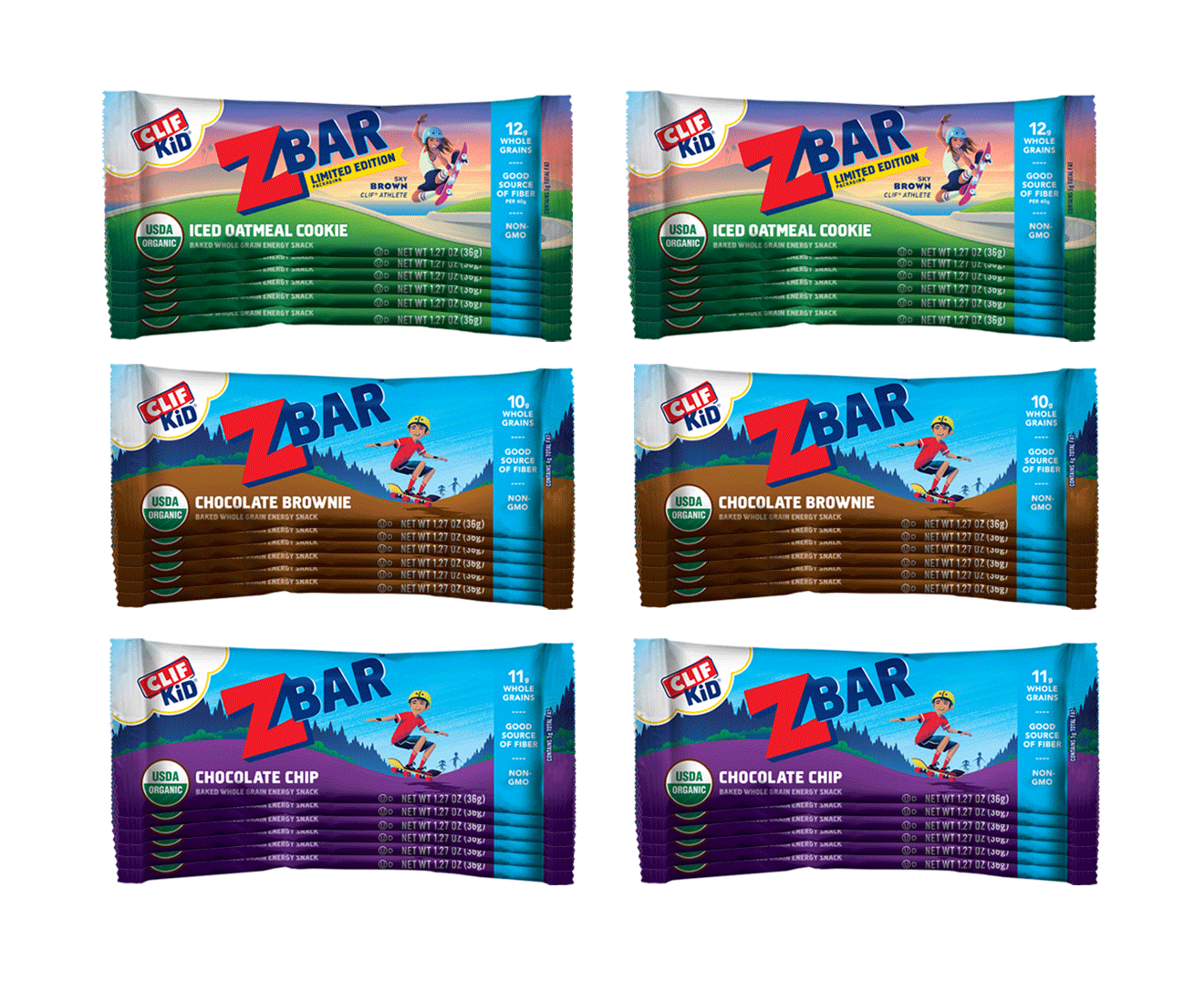 CLIF Kid Zbar Value Pack, 36 bars packaging