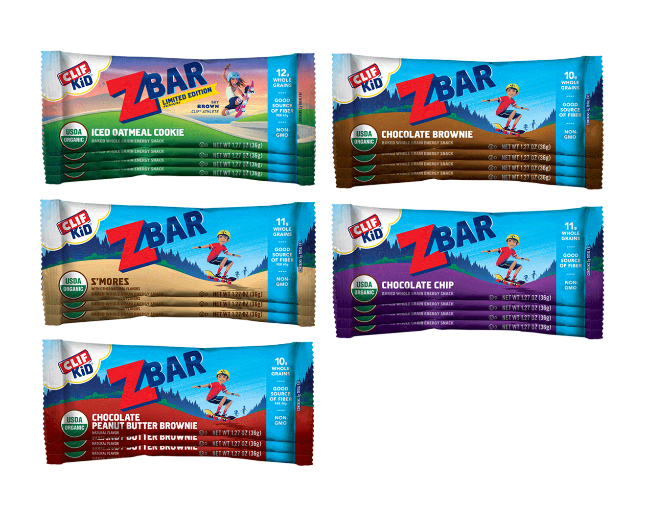 CLIF Kid Zbar Variety Pack, 18 Bars packaging