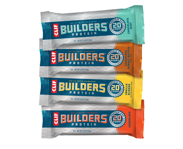 CLIF BUILDERS® Variety Pack, 12 Bars packaging