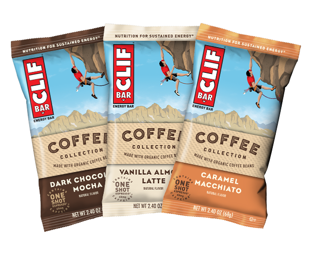 CLIF BAR Coffee Collection Variety Pack, 6 Bars packaging