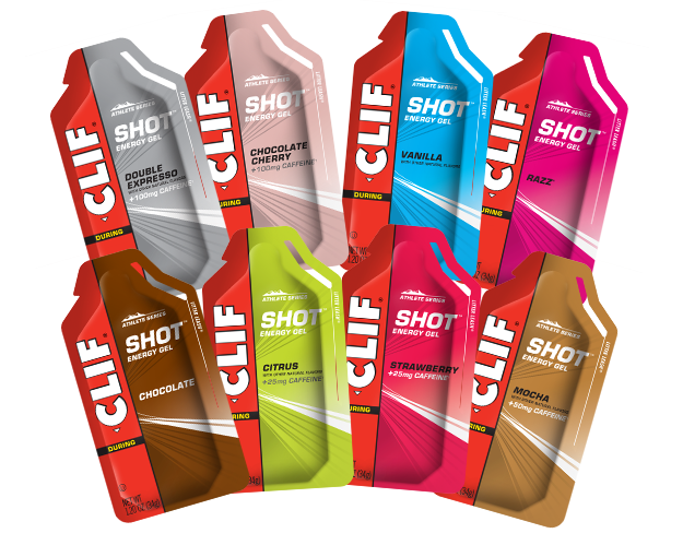 CLIF SHOT Energy Gel Variety Pack, 16 Packets packaging