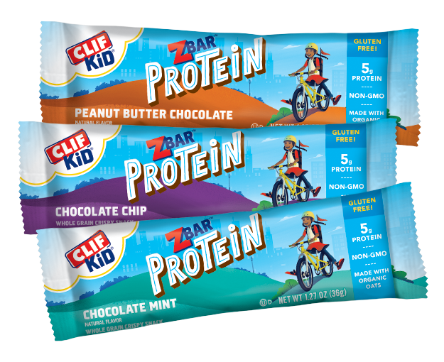 CLIF Kid Zbar Protein Variety Pack, 9 Bars packaging