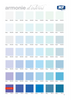 Blue Colour Chart for Purifica, Rigenera and Rifletti Wellness Paint