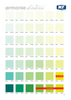 Green Colour Chart for Purifica, Rigenera and Rifletti Wellness Paint