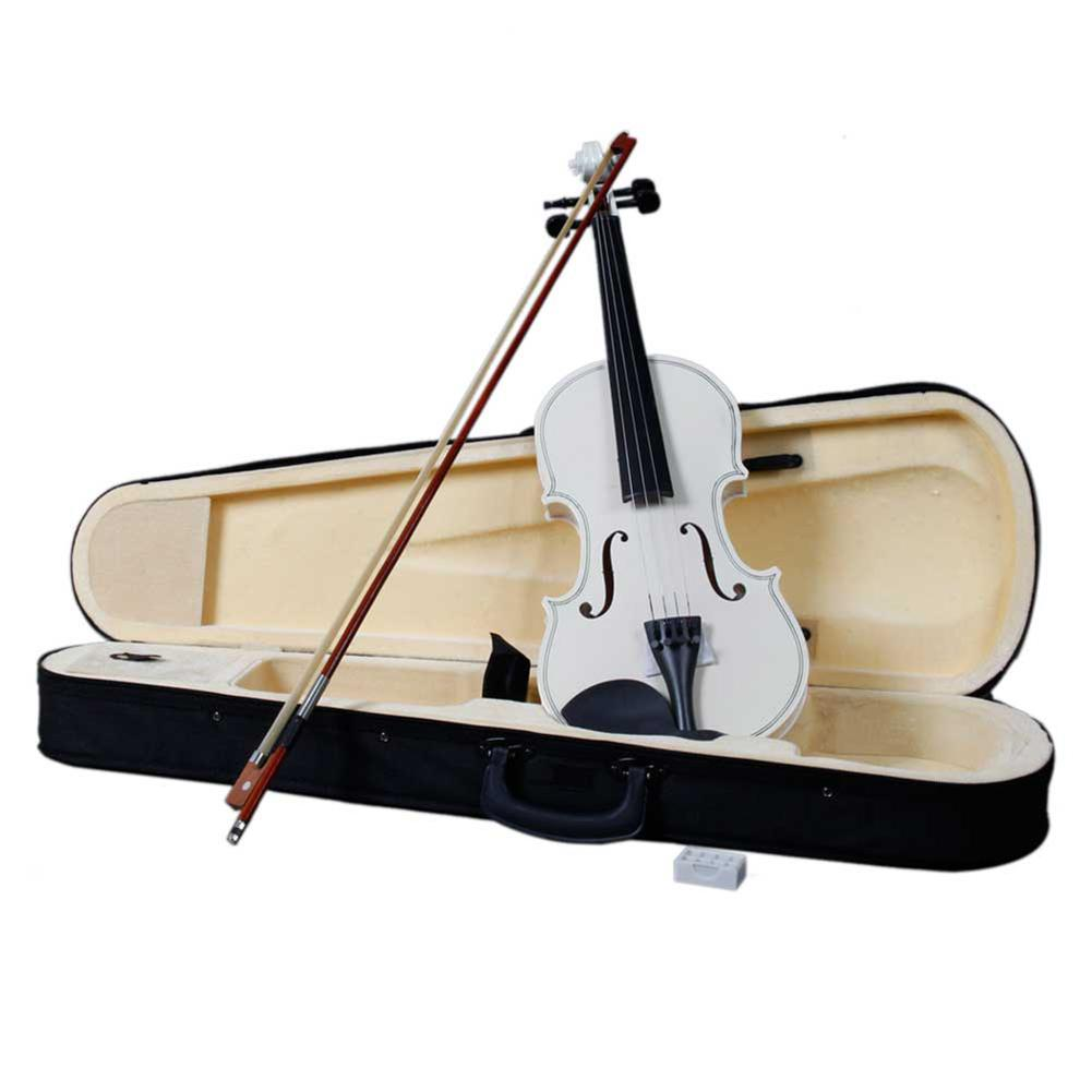 4/4 Full Size Basswood Acoustic Violin Set Violin Case with Bow Rosin for Strings Instrument Tackles High Quality Musical Supply
