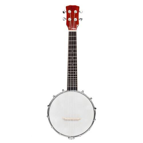 Exquisite Professional 4 string Banjo Set Wood Color Sapele Red ragtime bluegrass music traditional jazz gift Musical instrument
