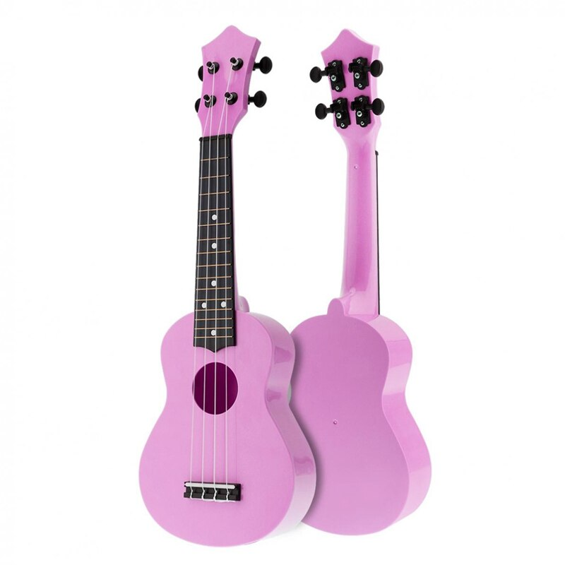 21 Inch Acoustic Ukulele Uke 4 Strings Hawaii Guitar Guitar Instrument for Kids and Music Beginner Pink