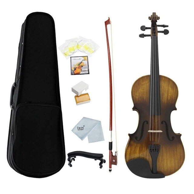IRIN AV206-7 Violin 4/4 Full Size 8Pcs/Set Fiddle Kit Antique Face Color 4-String Instrument With Case Vilolin Kit