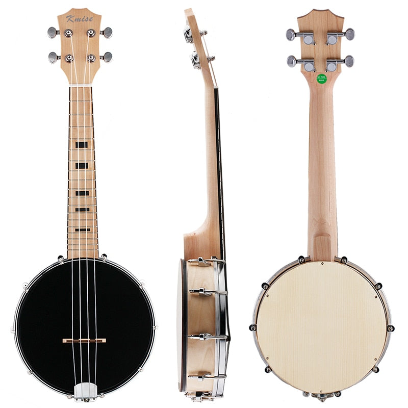 Kmise 4 String Banjo Ukulele Uke Concert 23 Inch Maple Wood 4 String Musical Instruments