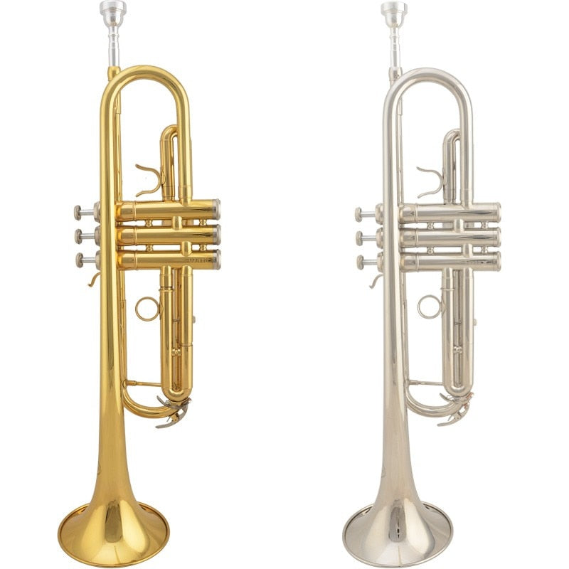 Professional JAZZOR JZTR-300 Beginner Trumpet B Flat Gold Lacquer trompete trompeta musical instruments with trumpet mouthpiece