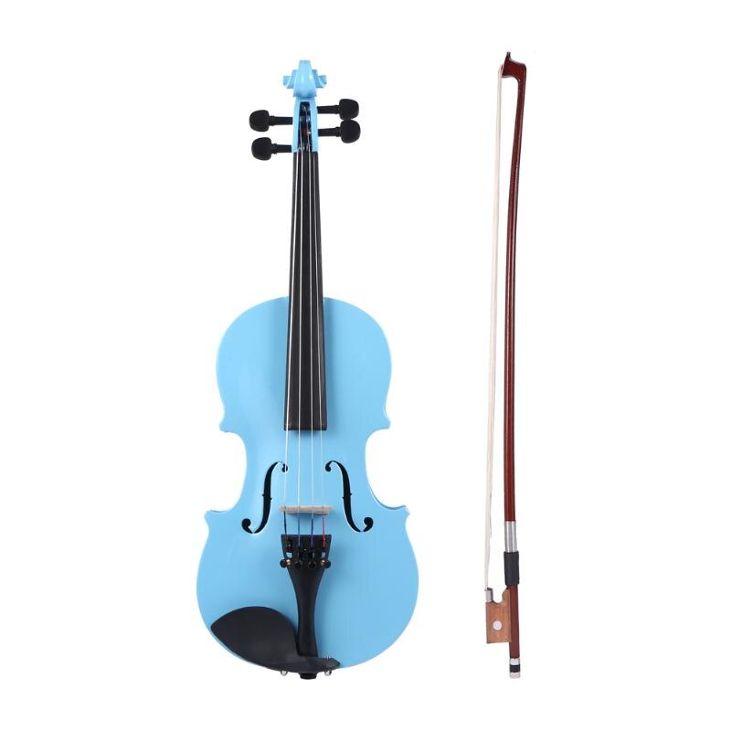 1/8 Size Natural Acoustic Violin Fiddle With Case Bow Rosin for Students Beginner Musical Stringed Instruments Gift