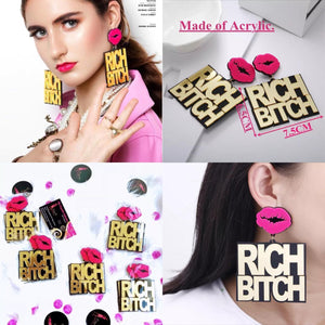 New Trendy Letter Big Earrings