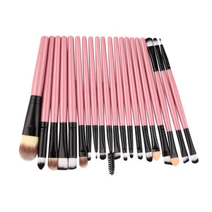 20Pcs Professional Makeup Brushes Pack Complete Make-up Lip Liner Foundation Concealer Make Up Brushes Tools Essential Sets