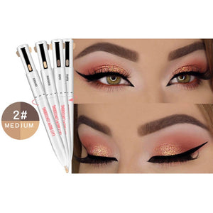 2020 Hot 4-in-1 Easy to Wear Eyebrow Contour Pen Waterproof Defining Highlighting Eye Brow Eyebrow Pencil Makeup Cosmetic
