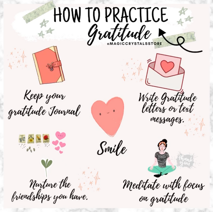 11 Ways To Practice Gratitude - Magic Crystals
