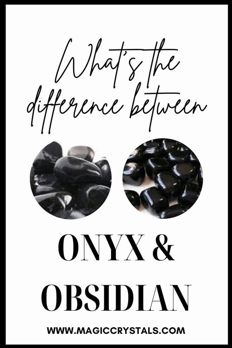 What's the Difference between onyx and obsidian ?